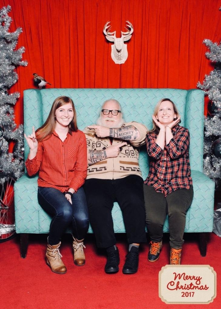 Hipster Santa with Hannah
